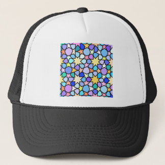Colorful Stain glass effect Stars Pattern Trucker Hat