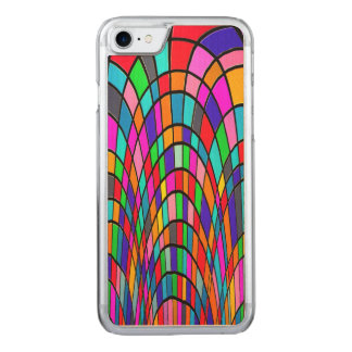 Colorful Stained Glass Art Carved iPhone 8/7 Case
