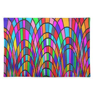 Colorful Stained Glass Art Place Mat