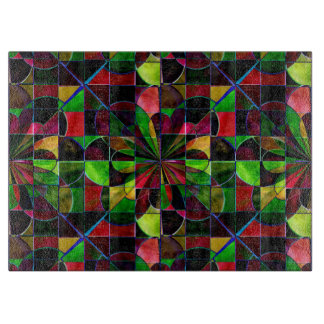 Colorful Stained Glass Mosaic Glass Cutting Board