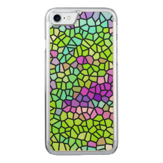 Colorful stained glass pattern carved iPhone 8/7 case