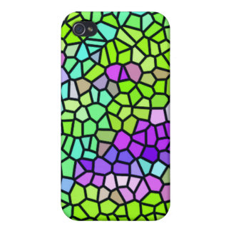 Colorful stained glass pattern case for iPhone 4