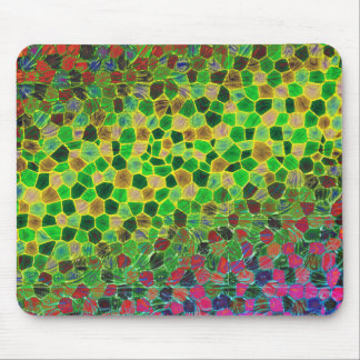 Colorful Stained Glass Texture Mousepad