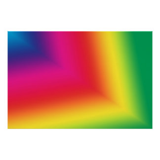 Colorful Star Beam Abstract Poster Print