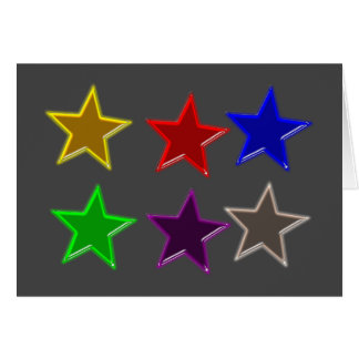 Colorful star buttons greeting card