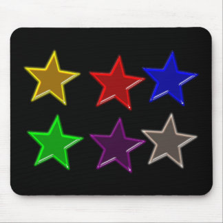 Colorful star buttons mouse pad