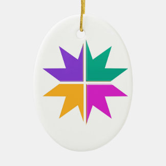 COLORFUL STAR champ winner LOWPRICE STORE GIFTS Ceramic Oval Decoration