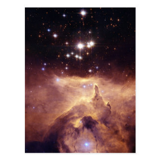 Colorful Star Cluster and Nebula Postcard