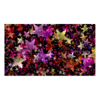 Colorful Star Cluster Business Card Template
