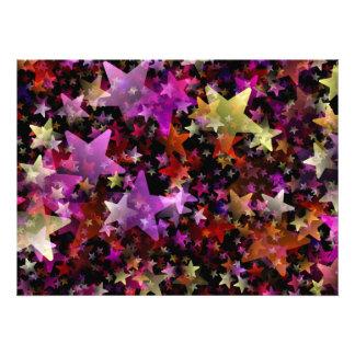 Colorful Star Cluster Personalized Announcement