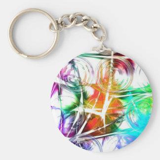 Colorful Star Design Keychain