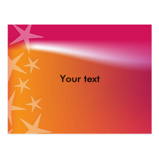 Colorful star design postcard