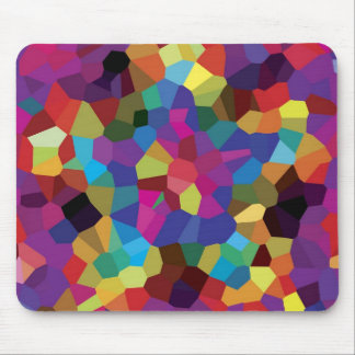 Colorful Star Mosaic Mouse Mat