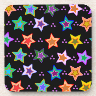 Colorful star pattern coaster