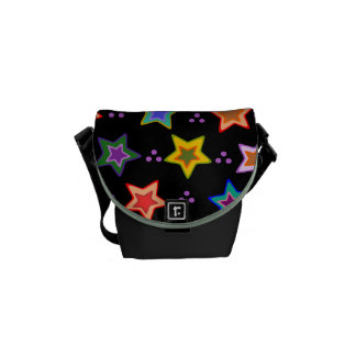 Colorful star pattern courier bags