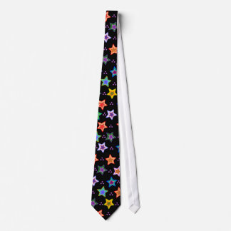 Colorful star pattern tie