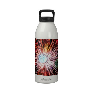colorful starburst red green blue reusable water bottles