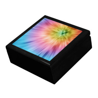 Colorful Starburst Tie Dye Gift Box