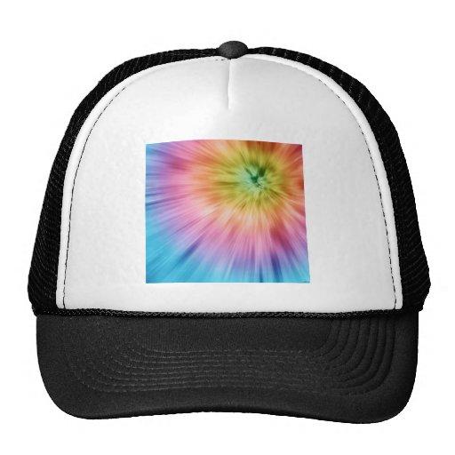 Colorful Starburst Tie Dye Hats