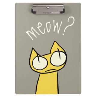 Colorful Staring Cats Clipboard