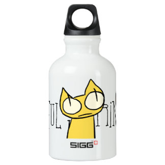 Colorful Staring Cats Water Bottle