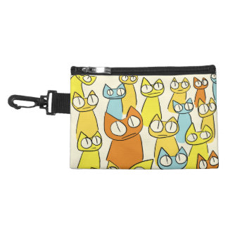 Colorful Staring lot Cats Accessory Bag
