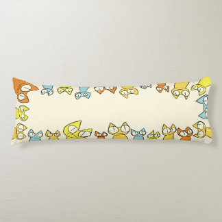 Colorful Staring lot Cats Body Cushion