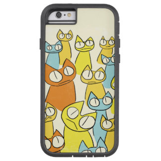 Colorful Staring lot Cats Tough Xtreme iPhone 6 Case