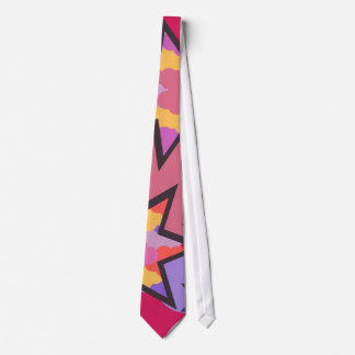 Colorful stars and disco clouds tie