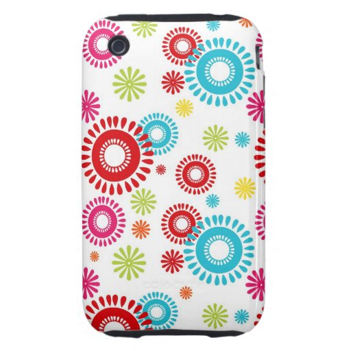 Colorful Stars Bold Bursts of Color iPhone 3 Tough Case