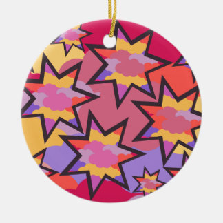 Colorful stars christmas ornament