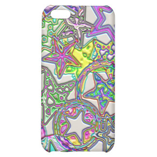 Colorful Stars Collage Cover For iPhone 5C
