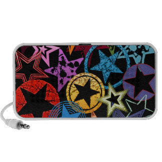 Colorful Stars Collage Mini Speaker