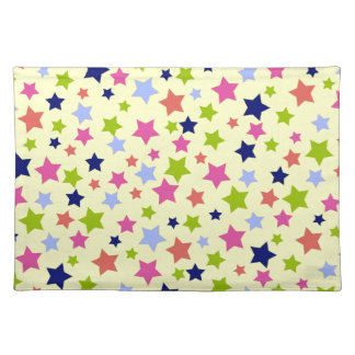 Colorful stars pattern on Cream Placemat
