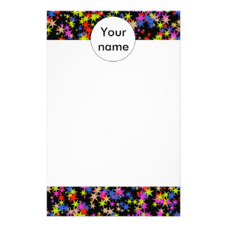 Colorful stars pattern stationery