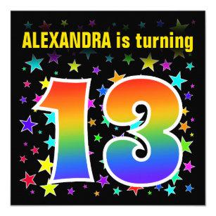13 Year Old Birthday Invitations