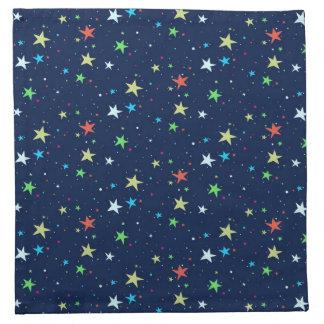 Colorful stars sky printed napkin