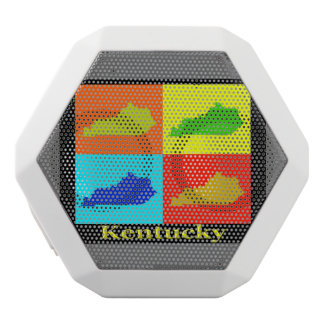 Colorful State of Kentucky Pop Art Map White Boombot Rex Bluetooth Speaker