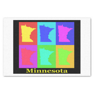 Colorful State Of Minnesota Pop Art Map Tissue Paper