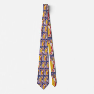 Colorful STATUE OF LIBERTY grid pattern tie