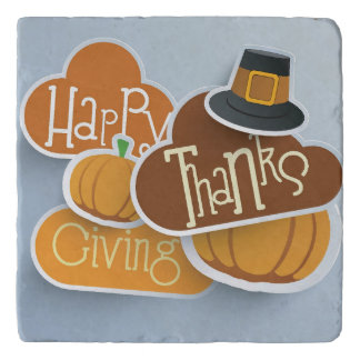 Colorful Sticker, Tags Or Labels For Happy Trivet