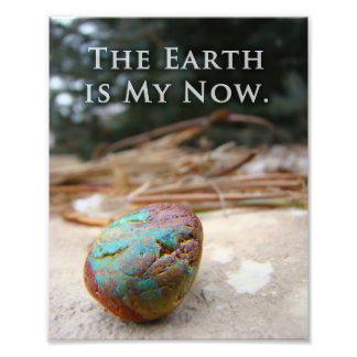 Colorful Stone Earth Celestial Geology Quote Art Photo Print