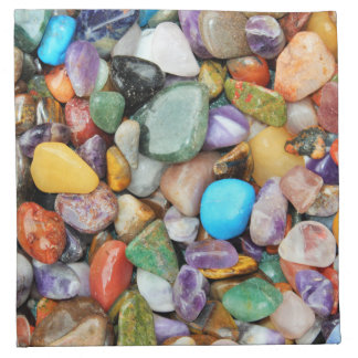 Colorful stones, pebbles, rocks printed napkin