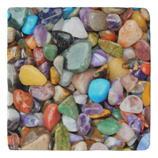 Colorful stones, pebbles, rocks trivet