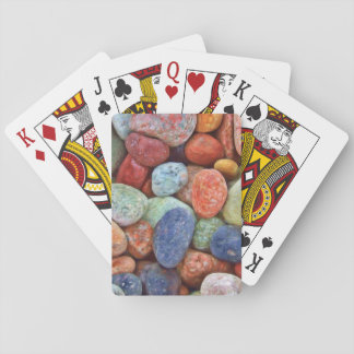 Colorful stones playing card