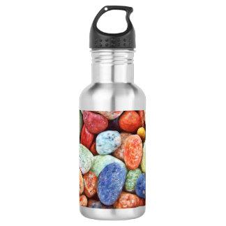 Colorful Stones - River Rocks Painting 532 Ml Water Bottle