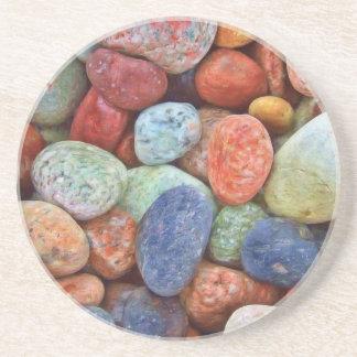 Colorful stones, rocks coaster