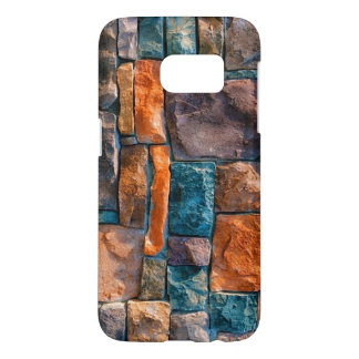 colorful stones wall