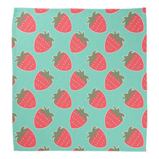 Colorful Strawberry Fruit Seamless Pattern Bandanas