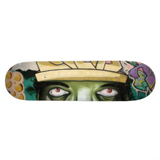 Colorful Street Art Eyes Skate Board Deck